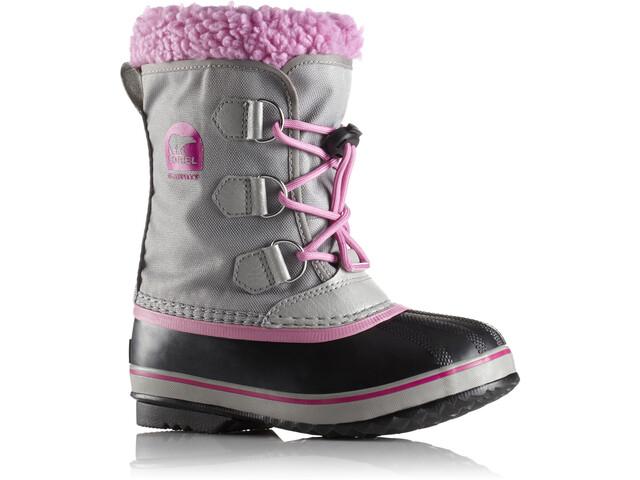 Sorel Yoot Pac Nylon Boots Kinder chrome grey/orchid